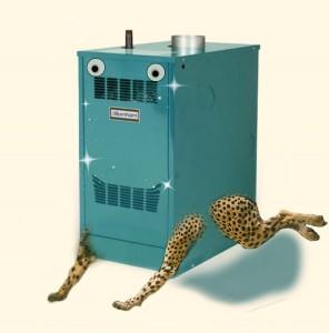 running boiler